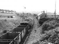 BRCW Type 2 no 5367 about to pass through the remains of Drongan station (closed 1951) on 4 March 1972 with a train of coal empties from Ayr Harbour heading for Killoch.<br><br>[John Furnevel&nbsp;04/03/1972]