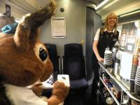 <I>'I'm sorry, that was the last Topic bar...'</I> Sandy the Squirrel goes nuts [see news item]<br><br>[First ScotRail&nbsp;30/11/2011]