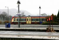 Rainy day at Stirling in January 2005. The Ochil Hills can just be seen through the mist.<br><br>[John Furnevel&nbsp;29/01/2005]