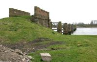 The northern abutment of the old swing bridge at Alloa - April 2006.<br><br>[John Furnevel&nbsp;27/04/2006]