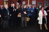 Part of the group of special guests and well-wishers at Kilmarnock station on 14 December 2009 to mark the introduction of a half-hourly service to Glasgow Central. <br><br>[Colin Martin&nbsp;14/12/2009]