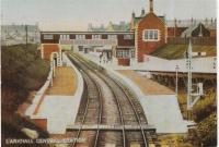 Larkhall Central station, when new, viewed from the south.<br><br>[Jim Pollock Collection&nbsp;//1905]