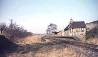 The closed station at Broughton, looking west towards Symington in 1966.<br><br>[John Robin&nbsp;25/03/1966]
