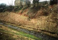 The site of this halt which had timber platforms. The site is now overgrown. [1988?]<br><br>[Ewan Crawford&nbsp;//]