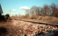 Kilbarchans island platform looking east. This is before conversion to a cycleway.<br><br>[Ewan Crawford&nbsp;//]