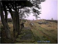 Down platform at Loch Skerrow halt.<br><br>[Ewan Crawford&nbsp;23/11/2001]