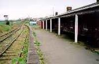 The empty platform at Stranraer Town.  Access by kind permission of Railtrack.<br><br>[Ewan Crawford&nbsp;//]