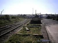 End of the platform at the closed Stranraer Town. Access by kind permission of Railtrack.<br><br>[Ewan Crawford&nbsp;4/5/2002]