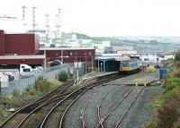 Larne Harbour looking towards the bufferstops.<br><br>[Ewan Crawford&nbsp;18/10/2004]