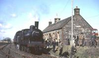 57375 at Whithorn on 15 April 1963 after arrival from Wigtown and Garlieston.<br><br>[John Robin&nbsp;15/04/1963]