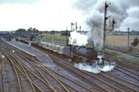 44972 climbs slowly through Law Junction in 1964 with a heavy up freight.<br><br>[John Robin&nbsp;28/09/1964]