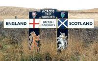 The Border sign at Lamberton. View looking  south-west ... obviously.<br><br>[Ewan Crawford&nbsp;//]
