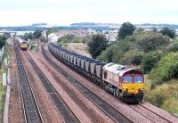 Freight trains meet at Saughton Junction.<br><br>[Ewan Crawford&nbsp;//]