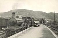 G.N.S.R. 4.4.0 62276 <i>Andrew Bain</i> at Macduff on 14 September 1950, shortly after arrival with a train from Aberdeen. The photograph was featured on a commemorative set of stamps issued by the Royal Mail in March 2012 [see image 9277].<br><br>[G H Robin collection by courtesy of the Mitchell Library, Glasgow&nbsp;14/09/1950]