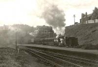 C.R. 0.4.4T 55168 leaving Crow Road for Maryhill in September 1951.<br><br>[G H Robin collection by courtesy of the Mitchell Library, Glasgow&nbsp;14/09/1951]