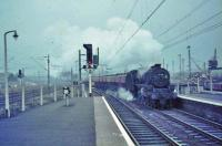 44889 with down cement train at Newton.<br><br>[John Robin&nbsp;16/19/1965]