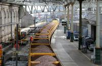 Ballasting in progress, Waverley north side, looking east along platform 1 on 26 February 2006.<br><br>[John Furnevel&nbsp;26/02/2006]