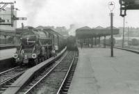 44960 for Inverness and 44998 for Aberdeen at Buchanan Street.<br><br>[John Robin&nbsp;16/08/1963]