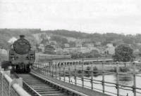 73154 crosses the Tay into Perth Princes Street with a train from Dundee.<br><br>[John Robin&nbsp;14/08/1963]