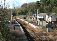 Looking west over the platforms of Hartwood station, North Lanarkshire, in February 2006.<br><br>[John Furnevel&nbsp;13/02/2006]