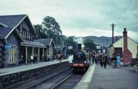Jones Goods at Blair Atholl with Inverness train.<br><br>[John Robin&nbsp;21/08/1965]