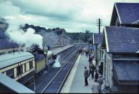 Jones Goods heading for Inverness with old shed in the background.<br><br>[John Robin&nbsp;21/08/1965]