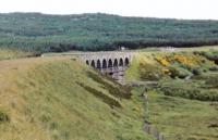 Wee Fleet viaduct from the west after closure of the line.<br><br>[John Robin&nbsp;14/08/1980]