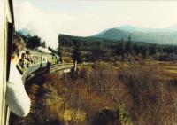 2005 leaves Tulloch and crosses the Spean viaduct.<br><br>[John Robin&nbsp;14/11/1987]
