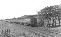A Swindon built DMU approaching West Kilbride from the north on 24 May 1960 with a Largs - St Enoch service. [Ref query 1095] <br><br>[G H Robin collection by courtesy of the Mitchell Library, Glasgow&nbsp;24/05/1960]