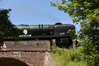 34053 <I>Sir Keith Park</I>, a Rebuilt Battle of Britain 4-6-2, one of five Bullied Pacifics working at the Mid-Hants gala commemorating 50 years since the end of Southern Region steam in 1967.<br> <br><br>[Peter Todd&nbsp;02/07/2017]