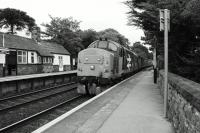 The 1004 hrs Preston to Barrow in Furness starts away from Kents Bank station on 07 July with DRS 37403 'Isle of Mull'. Now which decade are we in?<br><br>[John McIntyre&nbsp;07/07/2017]
