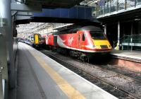 The Virgin Trains East Coast 0755 Inverness - London Kings Cross <I>Highland Chieftain</I> HST service arriving at Waverley on 24 March 2017.<br><br>[John Furnevel&nbsp;24/03/2017]