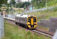 ScotRail 158740 pulls away from the platform at Newtongrange on 9 July 2017 with the 1011 Edinburgh - Tweedbank.<br><br>[John Furnevel&nbsp;09/07/2017]