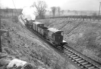 The Langholm branch freight photographed near Gilnockie in 1965. <br><br>[Bruce McCartney&nbsp;//1965]
