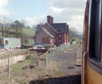 The closed station at Little Salkeld viewed from a southbound trains, diverted from the WCML.<br><br>[Ewan Crawford&nbsp;25/03/1989]