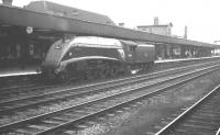 60014 <I>Silver Link</I> ambles through Doncaster light engine on 1 September 1962. The A4 had just over 3 months of operational life remaining at this stage, being eventually withdrawn from Kings Cross shed in December of that year and cut up at Doncaster Works the following month.  <br><br>[K A Gray&nbsp;01/09/1962]