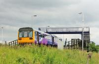 Northern Pacer 142094, working from Saltburn to Bishop Auckland, runs through Teesside Airport (without stopping of course) on 24th June. In 2017 the only trains scheduled to call are the (Sundays only) 1116 to Hartlepool and the 1236 to Darlington. <br><br>[Mark Bartlett&nbsp;24/06/2017]