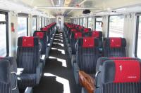 One of the delights of travelling on train EC6 (Eurocity) from Mannheim to Cologne on 12th June 2017 was sampling the traditional First Class accommodation on this Swiss Railways service from Interlaken to Hamburg. Seats were comfortable and matched to windows, allowing the best possible views on the delightful run along the west bank of the Rhine gorge north of Bingen.<br> <br><br>[David Spaven&nbsp;12/06/2017]