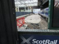 Platform 12 at Waverley. Signs of progress on 23 July. View from the buffer end.<br><br>[John Yellowlees&nbsp;23/07/2017]
