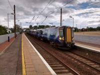 A six-car service from North Berwick to Waverley calls at 'The Pahns' on 31<br> July.<br><br>[David Panton&nbsp;31/07/2017]
