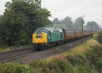 D345 heads the Carnforth to York leg of the <I>Scarborough Spa Express</I> seen at Bay Horse on 17th August 2017. An extra treat for the passengers before the steam loco takes over. The train is scheduled to be hauled by a Colas Rail Class 56 on 310817.  <br><br>[Mark Bartlett 17/08/2017]
