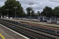 Work on Didcot's Platform 1; building up the platform to accommodate the new electric trains.<br><br>[Peter Todd 03/08/2017]