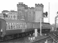 This DMU replacement is a grab shot at Newcastle - difficult to get it all in the frame. Taken in the 1980s.<br><br>[Crinan Dunbar&nbsp;//]