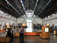 The interior of a former Forthside Barracks goods shed at Stirling is now a dedicated building conservation centre. Run by Historic Environment Scotland, it serves as a central hub for building and conservation professionals and the general public. The building has displays, activities and events of interest to adults and young people alike. [Editor's note: the building is inappropriately named The Engine Shed never having been a locomotive shed.]<br><br>[Colin McDonald&nbsp;04/08/2017]