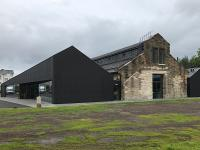 A goods shed, formerly in the Forthside Barracks complex, is now a building conservation centre run by Historic Environment Scotland. The building has displays, activities and events of interest to adults and young people alike. [Editor's note: the building is inappropriately named The Engine Shed never having been a locomotive shed.]<br><br>[Colin McDonald&nbsp;04/08/2017]