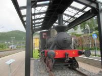 A preserved steam loco at Narvik.<br><br>[John Yellowlees&nbsp;20/07/2017]