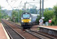DRS 68006 <I>Daring</I> accelerates gently through Slateford Junction following a signal check, with an Edinburgh - Motherwell ScotRail empty stock working.<br><br>[John Furnevel&nbsp;10/08/2017]