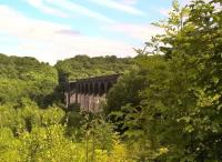 This magnificient viaduct was built to connect the Hull and Barnsley with GNR and GER lines. Although the track beds North and South have been 'landscaped', the viaduct itself is tarmacked. View south in August 2017. [Ref query 1675]<br><br>[Ken Strachan&nbsp;16/08/2017]