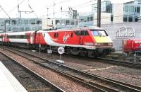 The Virgin Trains East Coast 0615 ex-Kings Cross ariving at Waverley on 24 March 2017. The train is routed into platform 9, alongside the south wall.<br><br>[John Furnevel&nbsp;24/03/2017]