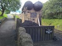 They're so posh on the Tanfield Railway, even the water tanks are double barreled. The coal store reminds me of the children stealing coal in the 'Railway Children' film.<br><br>[Ken Strachan&nbsp;05/08/2017]